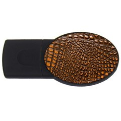 Crocodile Skin Usb Flash Drive Oval (4 Gb) by Alisyart
