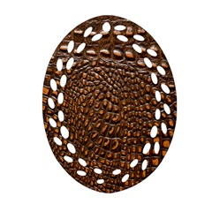 Crocodile Skin Oval Filigree Ornament (two Sides) by Alisyart