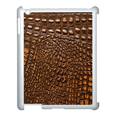 Crocodile Skin Apple Ipad 3/4 Case (white)