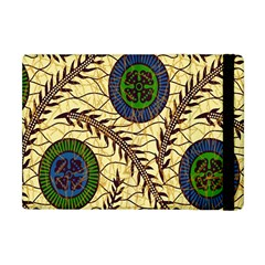 Fabrick Batik Brown Blue Green Leaf Flower Floral Apple Ipad Mini Flip Case by Alisyart