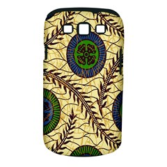 Fabrick Batik Brown Blue Green Leaf Flower Floral Samsung Galaxy S Iii Classic Hardshell Case (pc+silicone) by Alisyart
