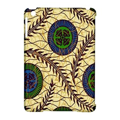 Fabrick Batik Brown Blue Green Leaf Flower Floral Apple Ipad Mini Hardshell Case (compatible With Smart Cover) by Alisyart
