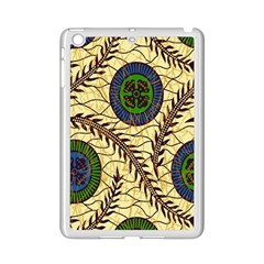 Fabrick Batik Brown Blue Green Leaf Flower Floral Ipad Mini 2 Enamel Coated Cases