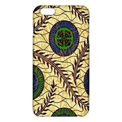 Fabrick Batik Brown Blue Green Leaf Flower Floral Iphone 6 Plus/6s Plus Tpu Case