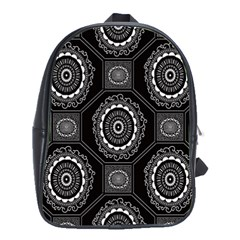 Circle Plaid Black Floral School Bags(large)  by Alisyart