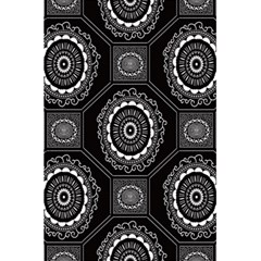 Circle Plaid Black Floral 5 5  X 8 5  Notebooks