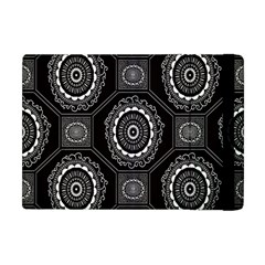 Circle Plaid Black Floral Apple Ipad Mini Flip Case