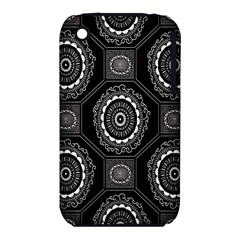 Circle Plaid Black Floral Iphone 3s/3gs by Alisyart