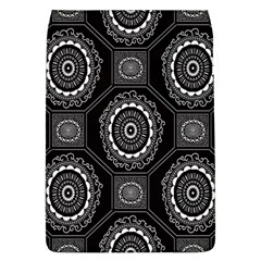 Circle Plaid Black Floral Flap Covers (l)  by Alisyart