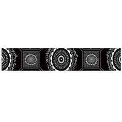 Circle Plaid Black Floral Flano Scarf (large)