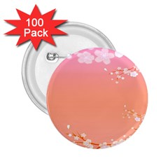 Flower Season Pink Purple Red 2 25  Buttons (100 Pack)