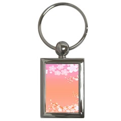 Flower Season Pink Purple Red Key Chains (rectangle)