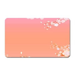 Flower Season Pink Purple Red Magnet (rectangular)