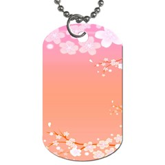 Flower Season Pink Purple Red Dog Tag (one Side)