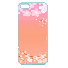 Flower Season Pink Purple Red Apple Seamless Iphone 5 Case (color)