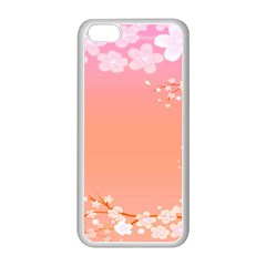 Flower Season Pink Purple Red Apple Iphone 5c Seamless Case (white)