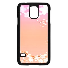 Flower Season Pink Purple Red Samsung Galaxy S5 Case (black) by Alisyart