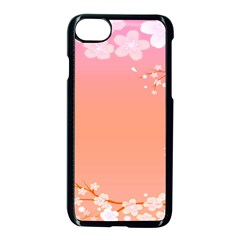 Flower Season Pink Purple Red Apple Iphone 7 Seamless Case (black)