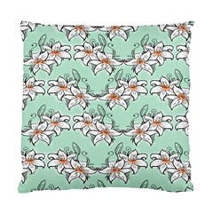Flower Floral Lilly White Blue Standard Cushion Case (one Side) by Alisyart