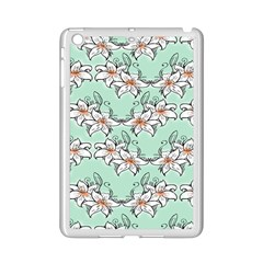 Flower Floral Lilly White Blue Ipad Mini 2 Enamel Coated Cases