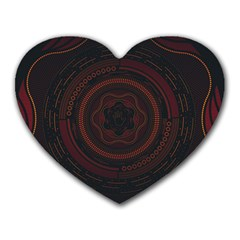 Hand Illustration Graphic Fabric Woven Red Purple Yellow Heart Mousepads