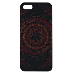 Hand Illustration Graphic Fabric Woven Red Purple Yellow Apple Iphone 5 Seamless Case (black)