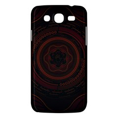 Hand Illustration Graphic Fabric Woven Red Purple Yellow Samsung Galaxy Mega 5 8 I9152 Hardshell Case