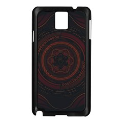 Hand Illustration Graphic Fabric Woven Red Purple Yellow Samsung Galaxy Note 3 N9005 Case (black)