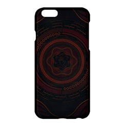 Hand Illustration Graphic Fabric Woven Red Purple Yellow Apple Iphone 6 Plus/6s Plus Hardshell Case