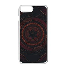 Hand Illustration Graphic Fabric Woven Red Purple Yellow Apple Iphone 7 Plus White Seamless Case