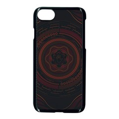 Hand Illustration Graphic Fabric Woven Red Purple Yellow Apple Iphone 7 Seamless Case (black)