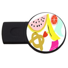 Fruit Watermelon Strawberry Banana Orange Shoes Lime Usb Flash Drive Round (2 Gb) by Alisyart