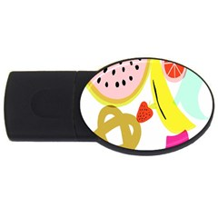 Fruit Watermelon Strawberry Banana Orange Shoes Lime Usb Flash Drive Oval (2 Gb)