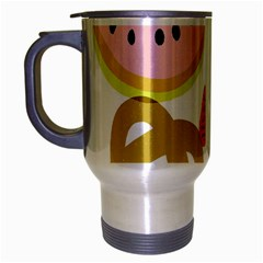 Fruit Watermelon Strawberry Banana Orange Shoes Lime Travel Mug (silver Gray)
