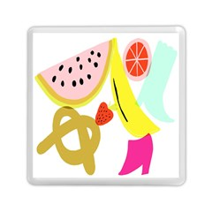 Fruit Watermelon Strawberry Banana Orange Shoes Lime Memory Card Reader (square)