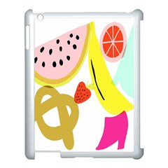 Fruit Watermelon Strawberry Banana Orange Shoes Lime Apple Ipad 3/4 Case (white)