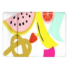 Fruit Watermelon Strawberry Banana Orange Shoes Lime Samsung Galaxy Tab 10 1  P7500 Flip Case