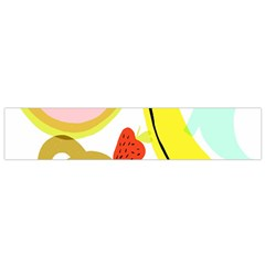 Fruit Watermelon Strawberry Banana Orange Shoes Lime Flano Scarf (small) by Alisyart