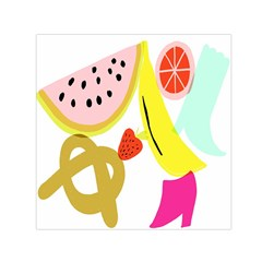Fruit Watermelon Strawberry Banana Orange Shoes Lime Small Satin Scarf (square)