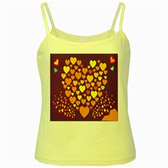 Heart Love Valentine Purple Orange Yellow Star Yellow Spaghetti Tank by Alisyart