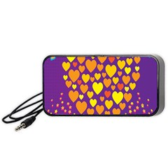 Heart Love Valentine Purple Orange Yellow Star Portable Speaker (black)