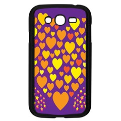 Heart Love Valentine Purple Orange Yellow Star Samsung Galaxy Grand Duos I9082 Case (black)