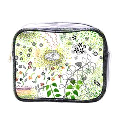 Flower Flowar Sunflower Rose Leaf Green Yellow Picture Mini Toiletries Bags by Alisyart