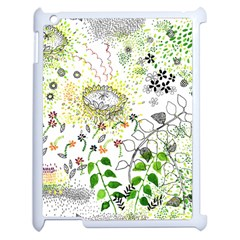 Flower Flowar Sunflower Rose Leaf Green Yellow Picture Apple Ipad 2 Case (white)