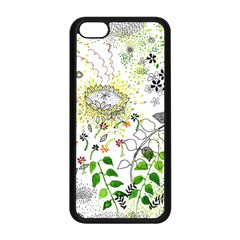Flower Flowar Sunflower Rose Leaf Green Yellow Picture Apple Iphone 5c Seamless Case (black) by Alisyart
