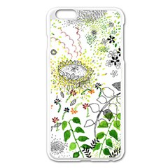 Flower Flowar Sunflower Rose Leaf Green Yellow Picture Apple Iphone 6 Plus/6s Plus Enamel White Case