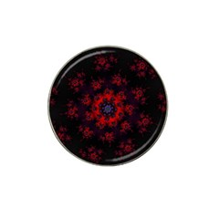 Fractal Abstract Blossom Bloom Red Hat Clip Ball Marker (4 Pack) by Amaryn4rt