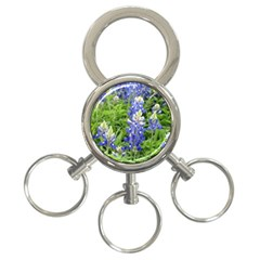 Blue Bonnets 3 Ring Key Chains by CreatedByMeVictoriaB