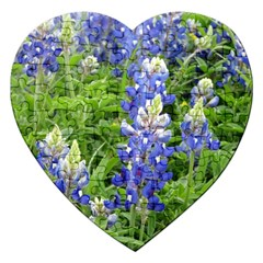 Blue Bonnets Jigsaw Puzzle (heart) by CreatedByMeVictoriaB