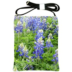 Blue Bonnets Shoulder Sling Bags by CreatedByMeVictoriaB